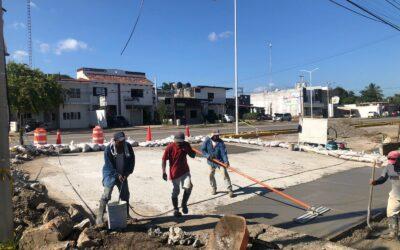Culmina reparación de fuga y socavón en San José del Valle