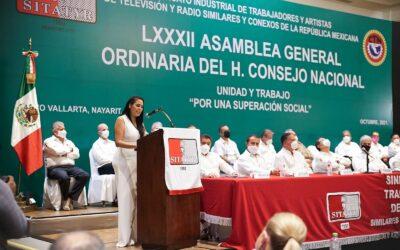 Asiste Mirtha Villalvazo a la 82 asamblea del SITATYR